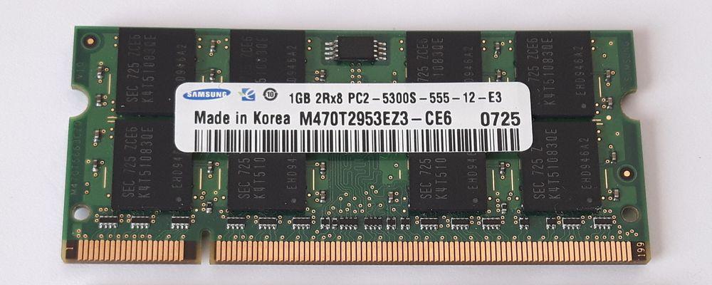Barrettes mémoire SODIMM  1GB PC2-5300S-555-12-E3 5 Saint-Germain-lès-Arpajon (91)