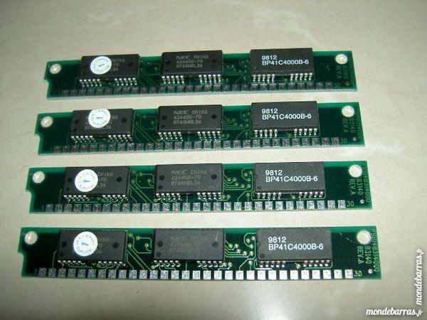 4 barrettes de RAM 30 pins de 1MB. 12 Fournet-Blancheroche (25)