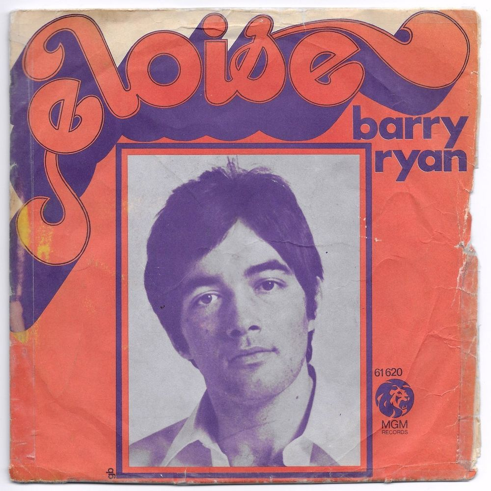 BARRY RYAN -45t- ELOISE / LOVE I ALMOST FOUND YOU - FR.1968 2 Tourcoing (59)