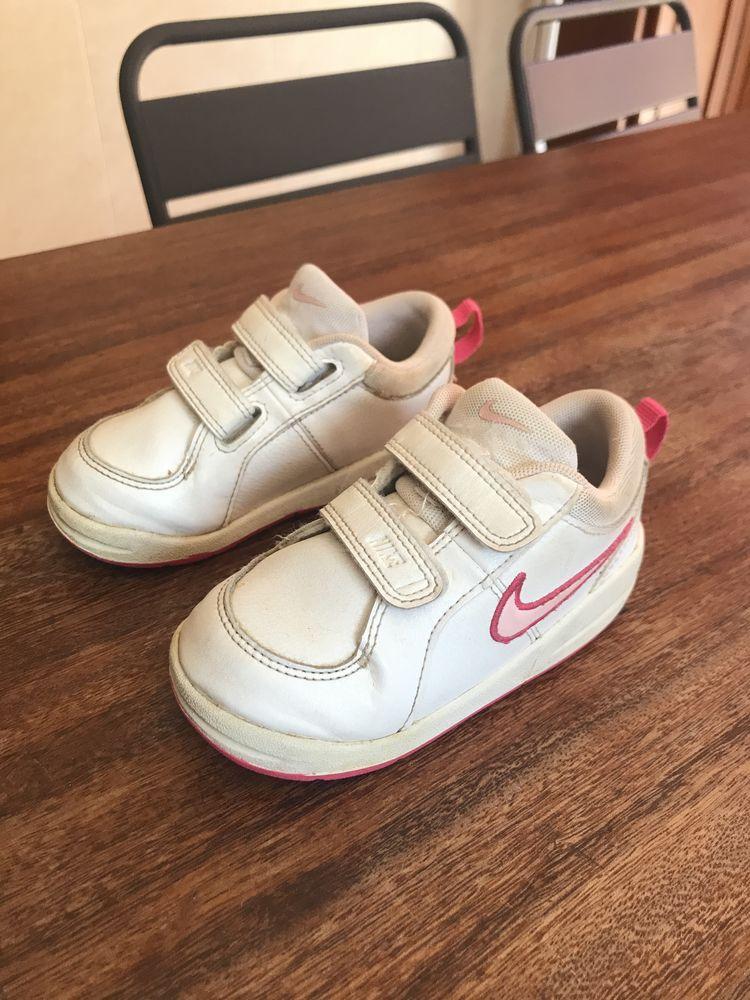 Basket enfant fille   Nike   couleur blanc / rose 12 Saleilles (66)