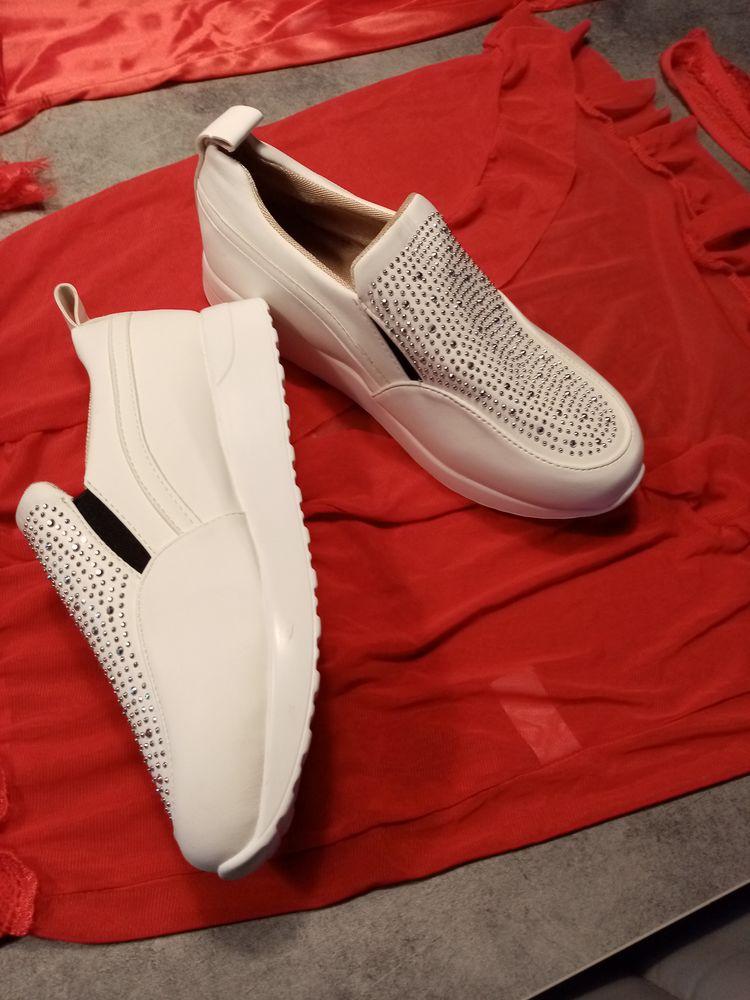 Basket strass blanche Chaussures