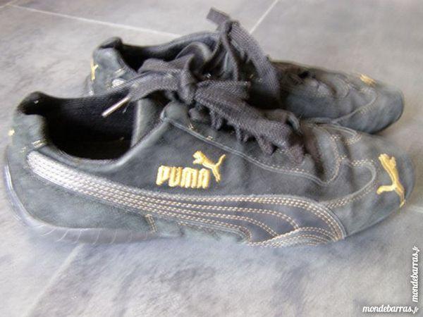 Baskets Puma Cuir Daim noires Taille 39 15 Brem-sur-Mer (85)
