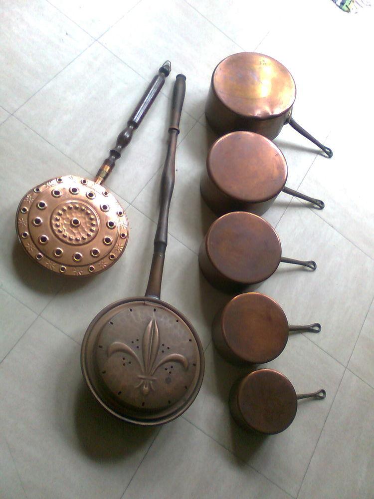 bassinoires, casseroles cuivre, poêle, ...zoe 4 Martigues (13)