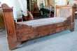 lit bateau en bois sur roulettes (brocante) Monflanquin (47)