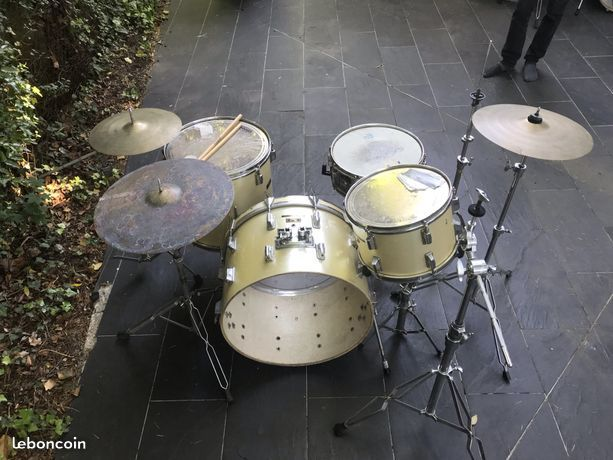 Batterie Pearl Export Vintage + Pieds de cymbales 150 Vaucresson (92)
