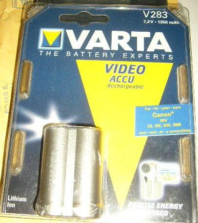 Batterie varta neuve V283  pour camescope numér Canon MV30 8 Versailles (78)