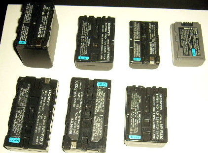 7 batteries occas camescope sony 38 Versailles (78)