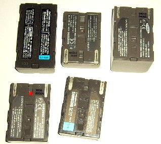 5 batteries pour camescope Samsung 30 Versailles (78)