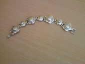 Beau bracelet argenté ancien N° 735 10 Bragny-sur-Saône (71)