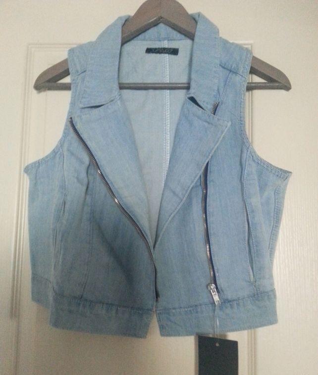 Beau gilet boléro veste femme jean denim mode rock - T 40 8 Domart-en-Ponthieu (80)