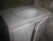 beau lavabo + meuble de dessous + robinetterie