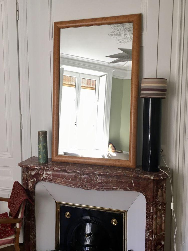Beau miroir en loupe d'orme 250 Lyon 1 (69)