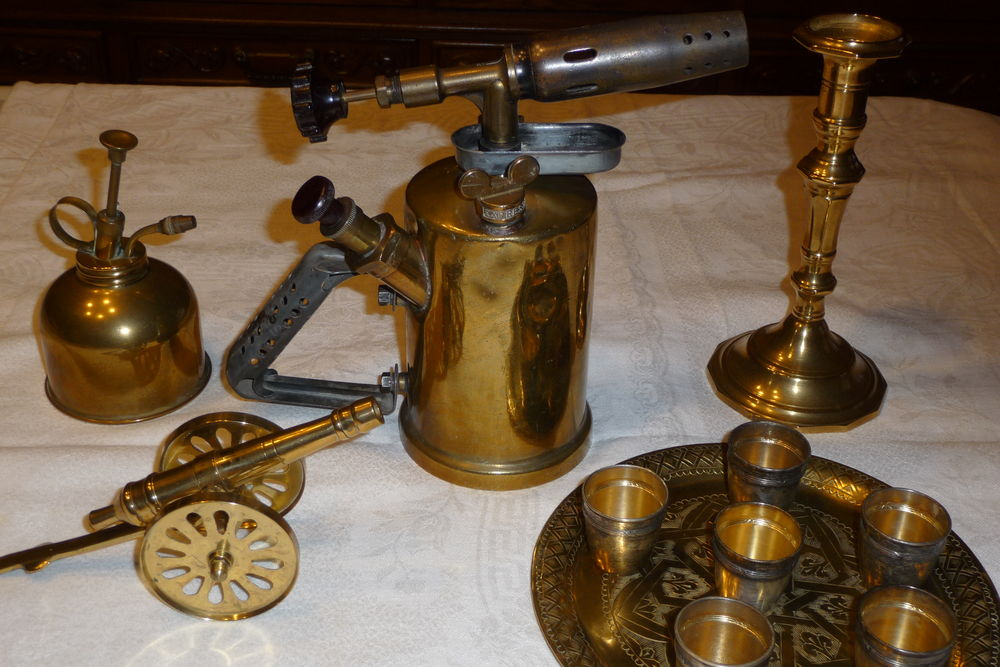 Beau lot d'objets en cuivre pour décoration 60 Aubusson (23)