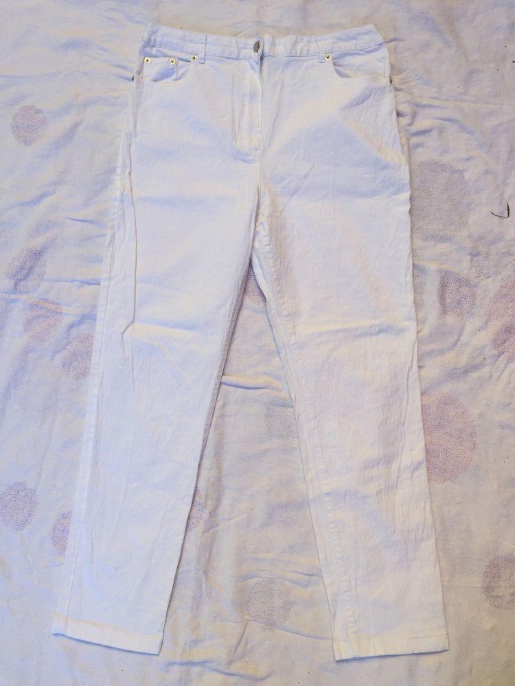 Beau pantalon/jean blanc T.44 TBE 5 Saint-Chinian (34)