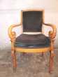 3 beaux fauteuils Merisier massif