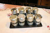 8 BEAUX FILTRES A CAFE TRES ANCIEN EN ARGENT MASSIF  0 Ghyvelde (59)