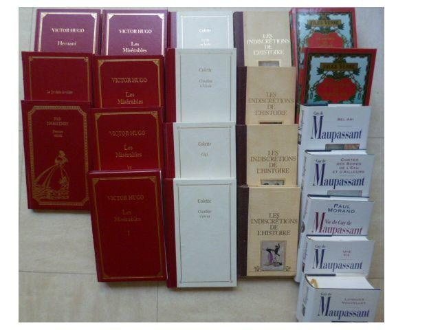 beaux LIVRES de collection - Hugo, Balzac,Maupassant, Verne, 4 Martigues (13)
