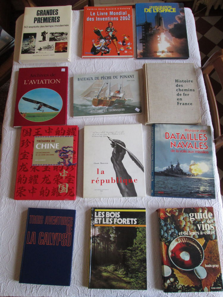 Beaux livres histoire science nature lot n°1 4 Herblay (95)