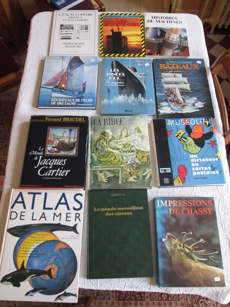 Beaux livres histoire science nature lot n°2 3 Herblay (95)