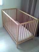 Lit bébé 60x120 avec matelas 40 Carbon-Blanc (33)