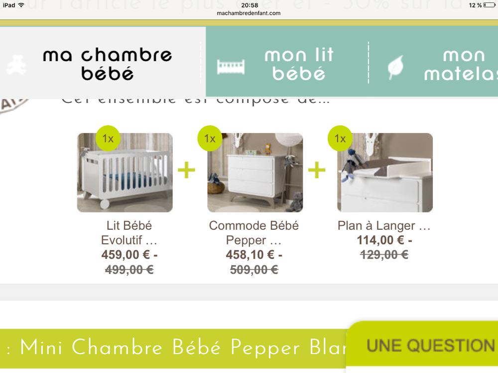 lit Bebe avec commode et plan à langer  0 Les Ponts-de-Cé (49)