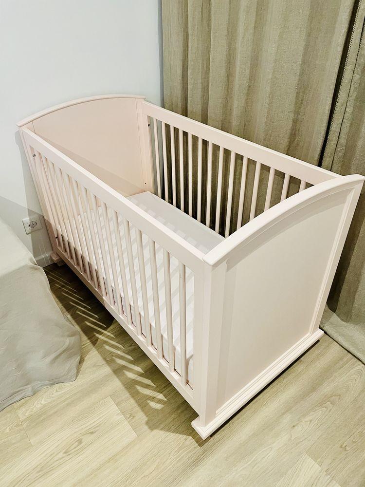 Lit bébé en bois rose pastel 150 Tosse (40)