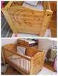 Lit bébé bois et table à langer Mobilier enfants