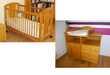 lit bébé et commode table à langer Vertbaudet en pin  120 Savigneux (01)