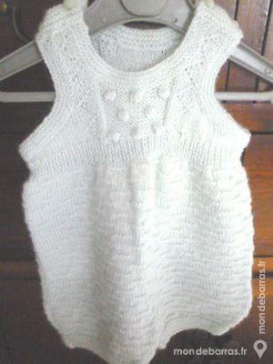 Bébé grenouillère tricoté main 3/6 mois 20 Argenton-sur-Creuse (36)