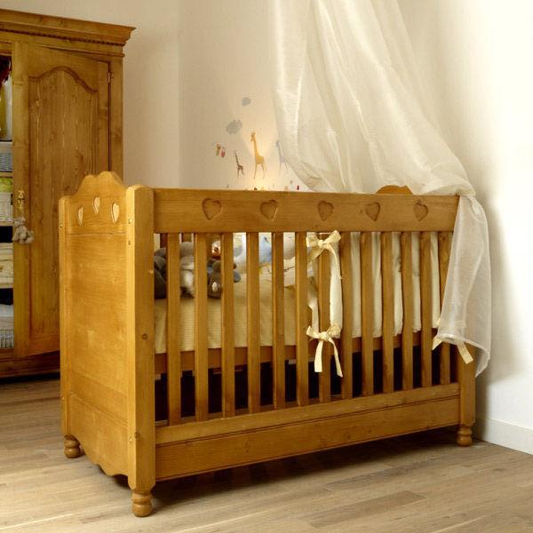lit bebe bois massif