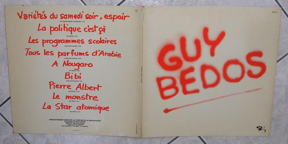 GUY BEDOS au THÉÂTRE DE LA RENAISSANCE 1975 - LP - VARIÉTÉS  5 Tourcoing (59)
