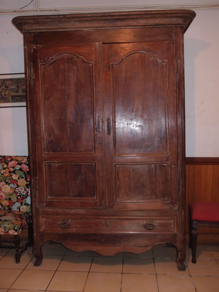 Belle armoire ancienne en noyer 150 Muret (31)