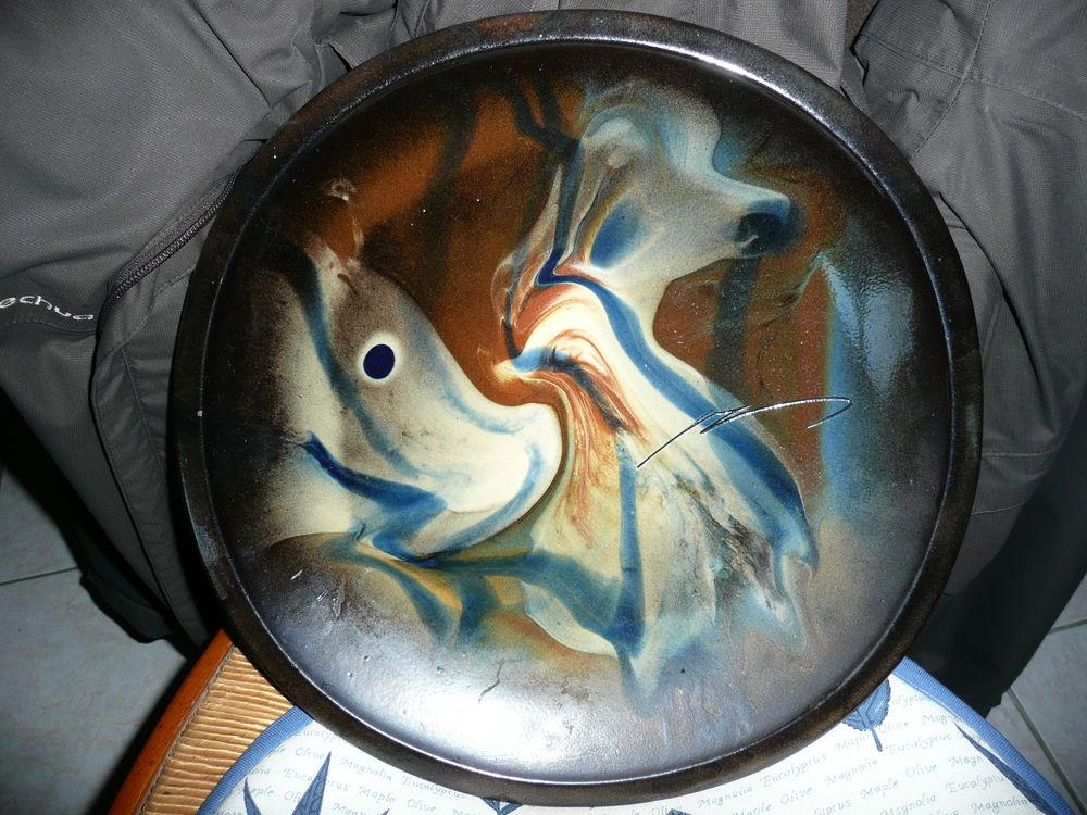 Belle assiette murale avec anneau de fixation 25 Bordeaux (33)