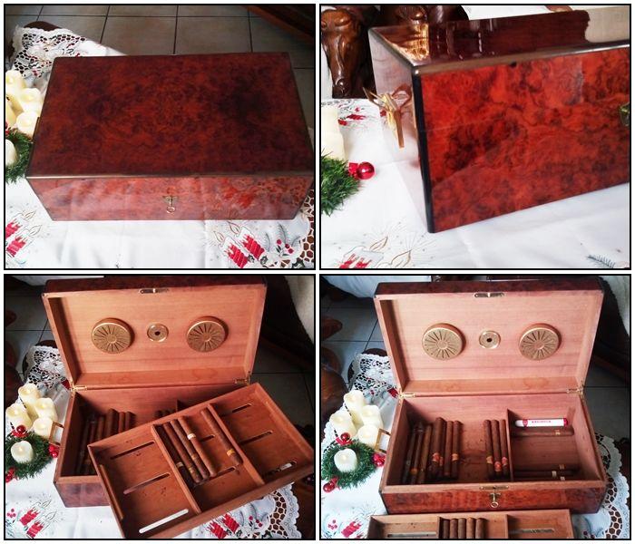Belle Cave à cigares en ronce de Thuya. 400 Colmar (68)
