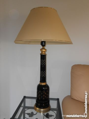 BELLE LAMPE NOIRE ABAJOUR BEIGE 30 Balaruc-les-Bains (34)