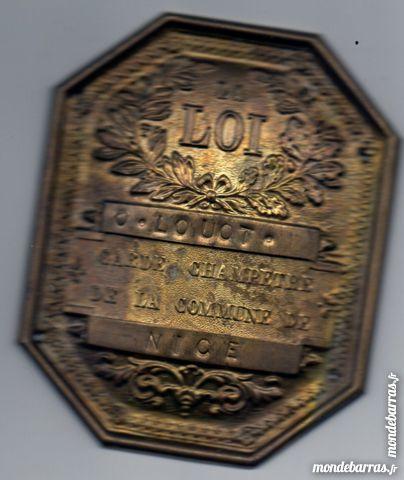 belle plaque de garde champètre NICE,19ème siècle 80 Lion-sur-Mer (14)
