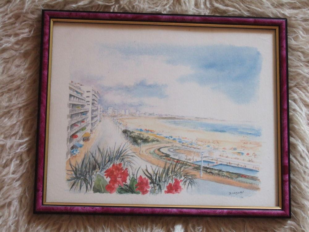 Belle reproduction d'aquarelle côte d'azur encadrée 10 Triel-sur-Seine (78)