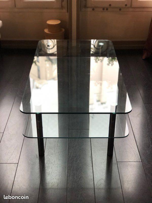 Belle table basse en verre  35 Paris 16 (75)