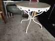 Belle table de jardin ancienne.  80 Amboise (37)