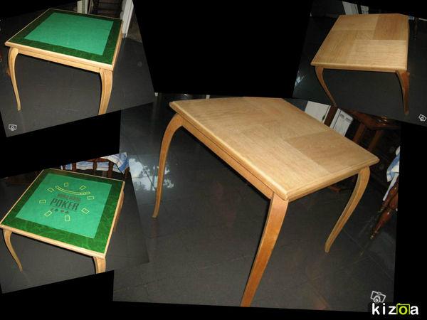 BELLE TABLE A JEUX ART DECO A PLATEAU REVERSIBLE  200 Marseille 13 (13)