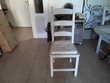 Belle table ronde en bois massif avec 6 chaises Meubles