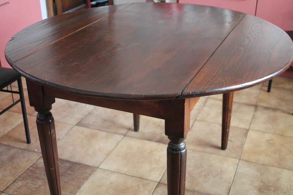 Belle table ronde ancienne 100 Caissargues (30)