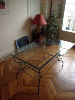 belle table verre + chaises métal 0 Paris 15 (75)
