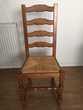 4 Belles chaises cannelées en chêne Meubles