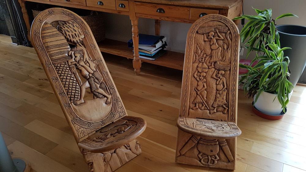 Lot de 2 belles chaises à palabre (de gardien) 49 Labège (31)