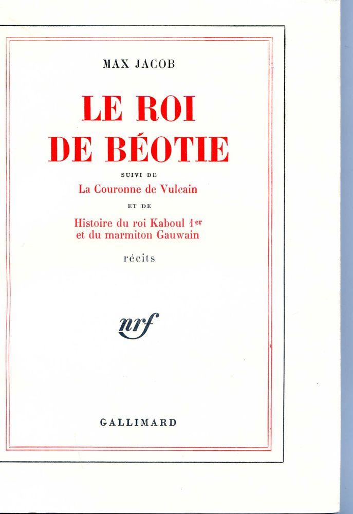 LE ROI DE BEOTIE - Max Jacob, 10 Rennes (35)