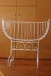 berceau ancien fer laqué blanc refait a neuf Rive-de-Gier (42)