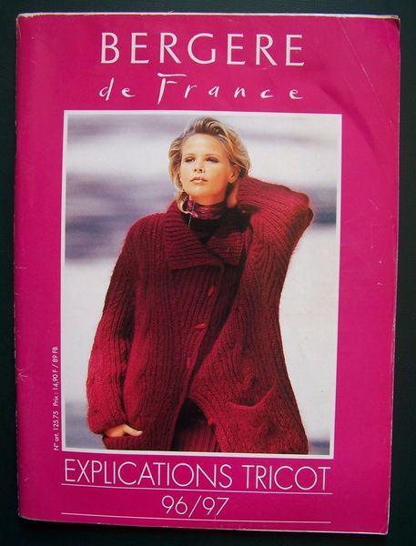 BERGERE DE FRANCE TRICOT 96/97 Livres et BD