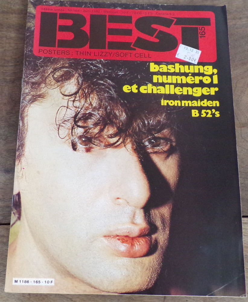 Best revue n° 165 Bashung  6 Laval (53)