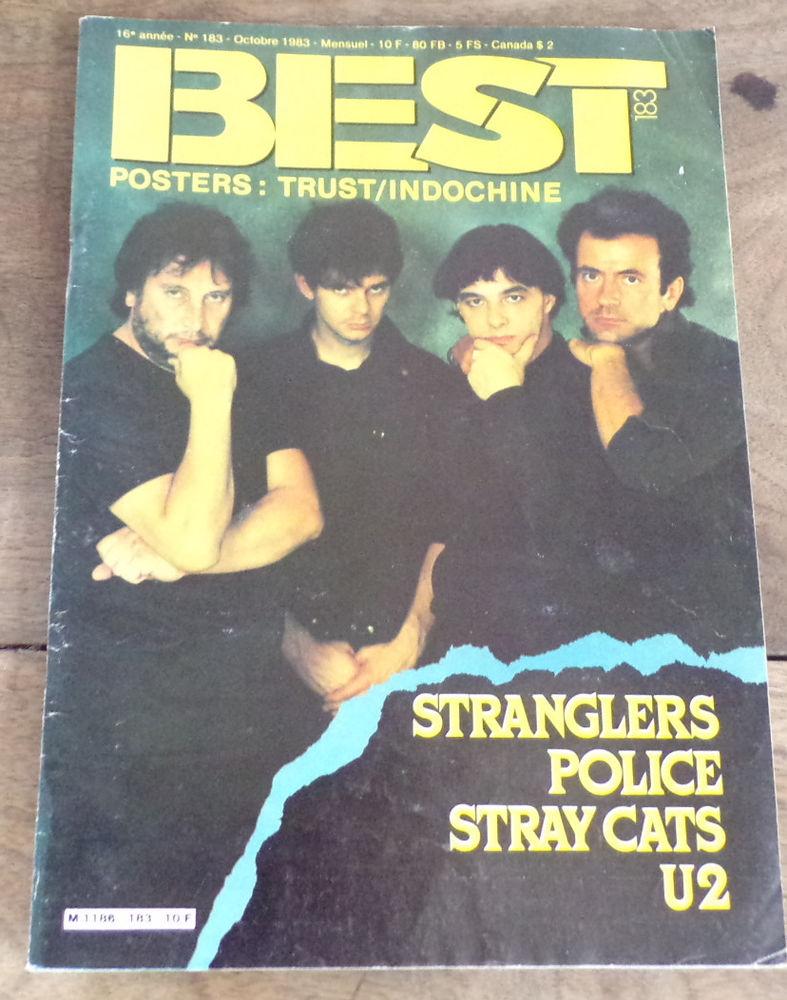Best revue n° 183 Stranglers Police U2 Livres et BD